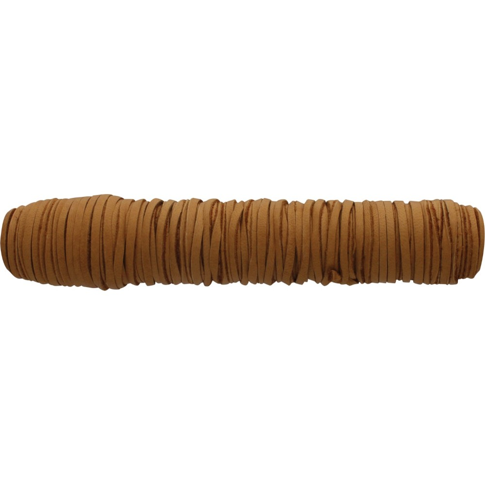 Leather Cord -Caramel 3mm Deerskin -50ft Spool DISCONTINUED