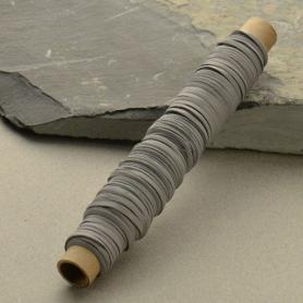 Leather Cord - Gray 3mm Deerskin - 50ft Spool