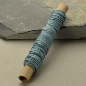 Leather Cord - Stone Blue 3mm Deerskin - 50ft Spool