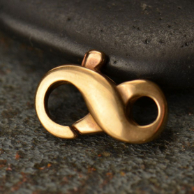 Bronze Infinity Lobster Clasp -13mm DISCONTINUED