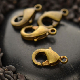 Small Lobster Clasp - Brass DISCONTINUED