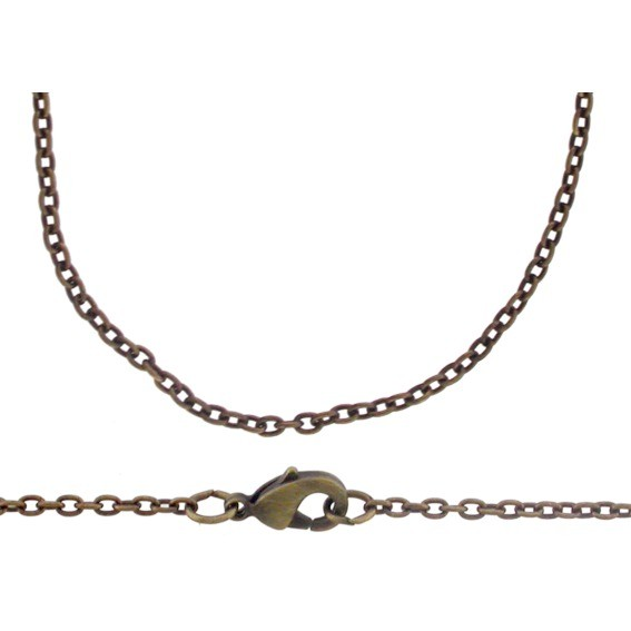 Brass 16 Inch Chain - Round Wire Cable Chain