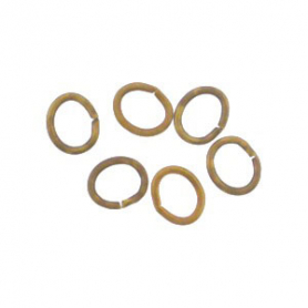 Brass Oval Jump Rings - Open 5x4 mm