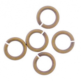 Brass Round Jump Rings - Open 7 mm