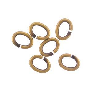 Brass Oval Jump Rings - Open 6x5 mm