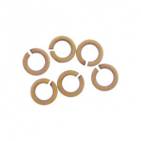 Brass Round Jump Rings - Open 5 mm