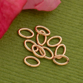 14K Rose Gold Filled Oval Jumpring Tiny Open