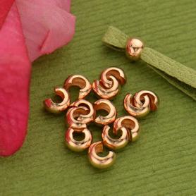 14K Rose Gold Filled Crimp Covers - 3mm