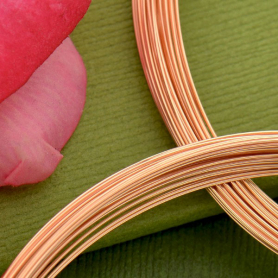14K Rose Gold Filled Dead Soft Wire - 26 Gauge Half oz 42 ft