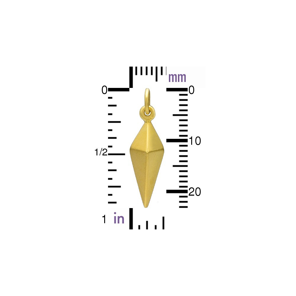 Large Spike Charm - 24K Gold Plated Bronze