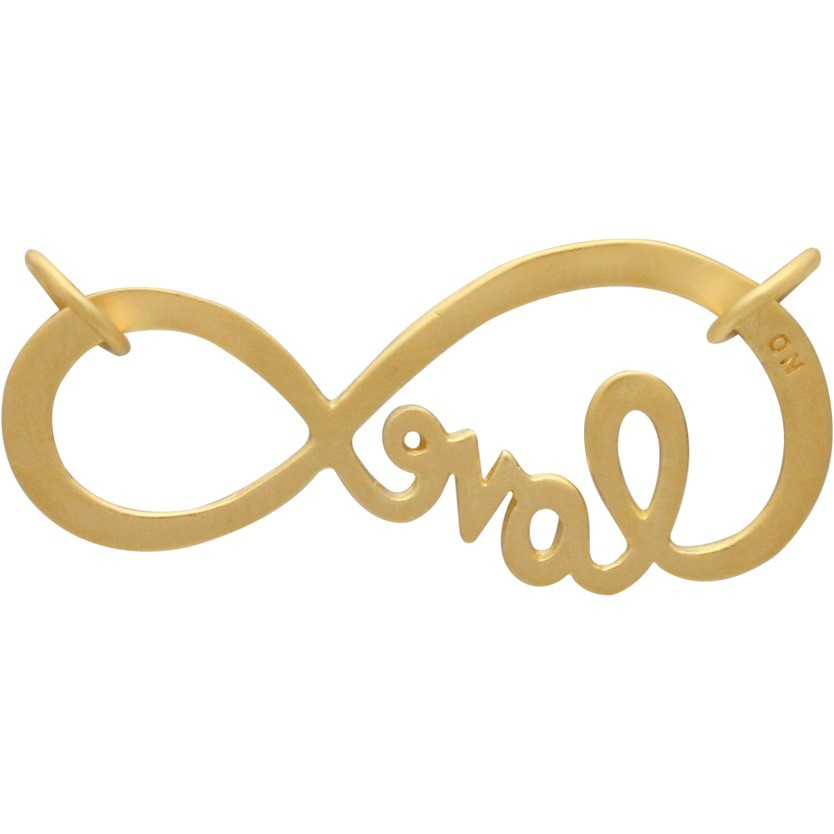 Infinity Pendant Link with 24K Gold Plate DISCONTINUED