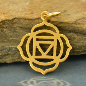 Root Chakra Charm - 24K Gold Plated Bronze DISCONTINUED