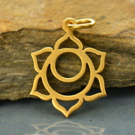 Sacral Chakra Charm - 24K Gold Plated Bronze DISCONTINUED