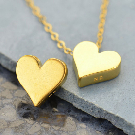 Large Heart Bead - 24K Gold Plated Bronze DISCONTINUED