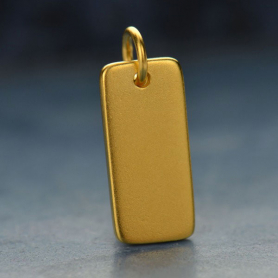 Rectangle Stamping Blank -24K Gold Plated BronzeDISCONTINUED