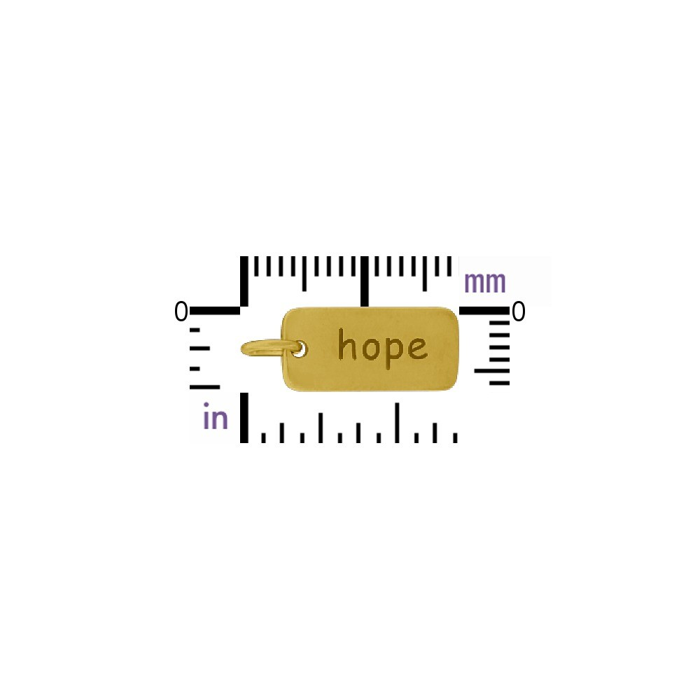 Hope Word Charm - 24K Gold Plated Bronze DISCONTINUED