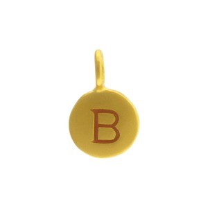 Alphabet Charm Intial B- 24K Gold Plated Bronze DISCONTINUED