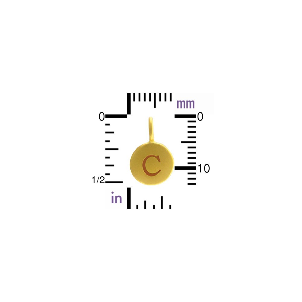 Alphabet Charm Intial C- 24K Gold Plated Bronze DISCONTINUED