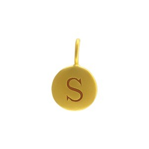 Alphabet Charm Intial S- 24K Gold Plated Bronze DISCONTINUED