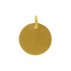 Large Round Stamping Blank - 24K Gold Plated Bronze