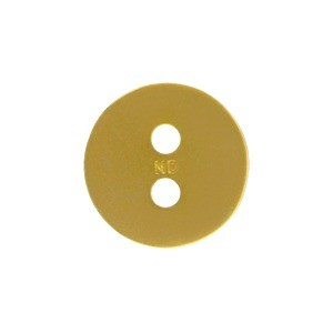 Hammered Two Hole Button24K Gold Plated Bronze DISCONTINUED