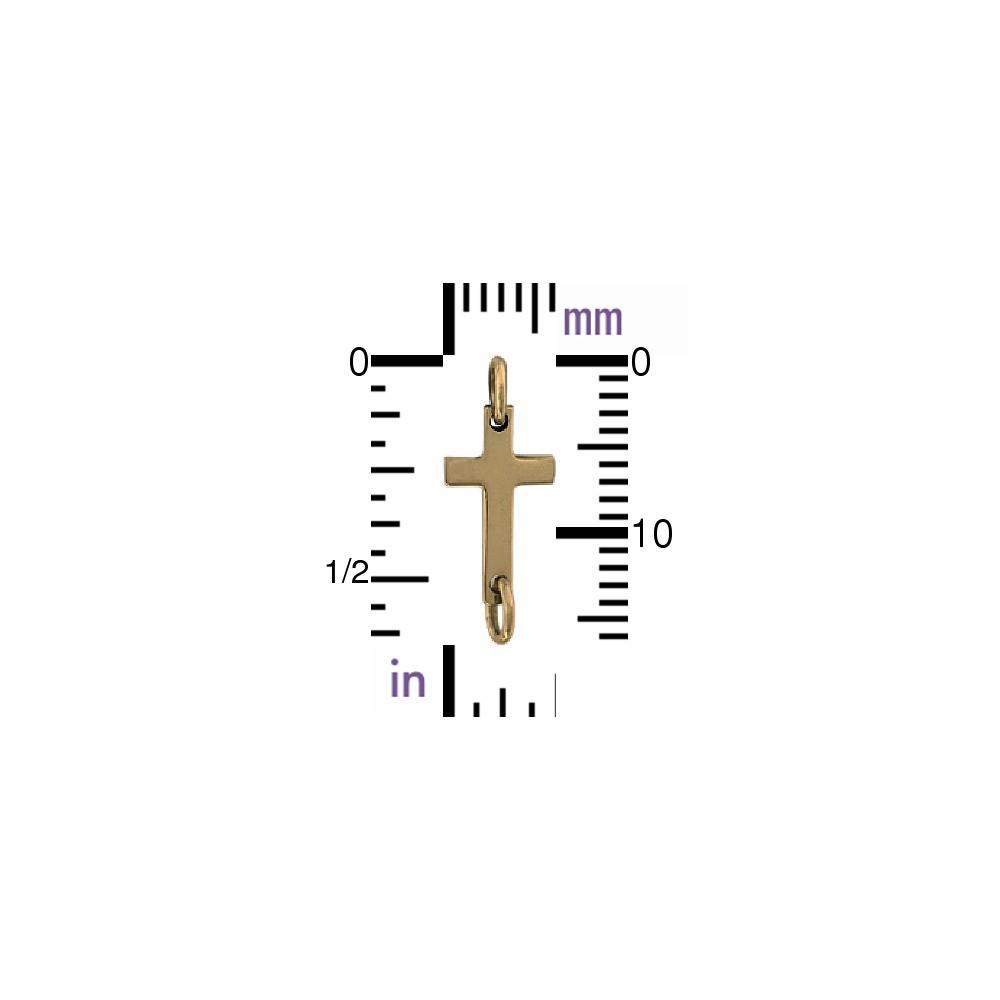 Cross Charm Link - Bronze
