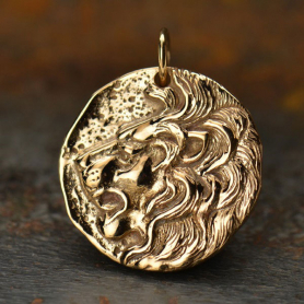 Ancient Coin Jewelry Charm - Lion - Bronze