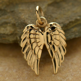 Bronze Double Wing Charm -19mm