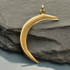 Crescent Moon Jewelry Pendant - Bronze