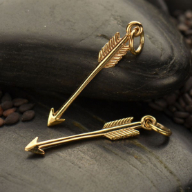 Bronze Arrow Charm 27x4mm