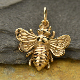 Bronze Bee Pendant -22mm