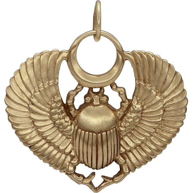 Egyptian Scarab Jewelry Pendant - Bronze