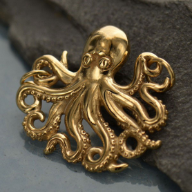 Jewelry Supplies - Octopus Pendant Bronze Link DISCONTINUED