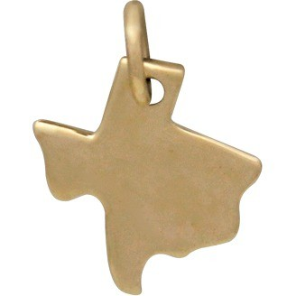 Texas State Jewelry Charm - Bronze 14x10mm