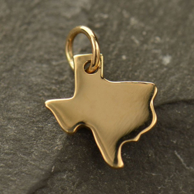 Texas State Jewelry Charm - Bronze 14x10mm