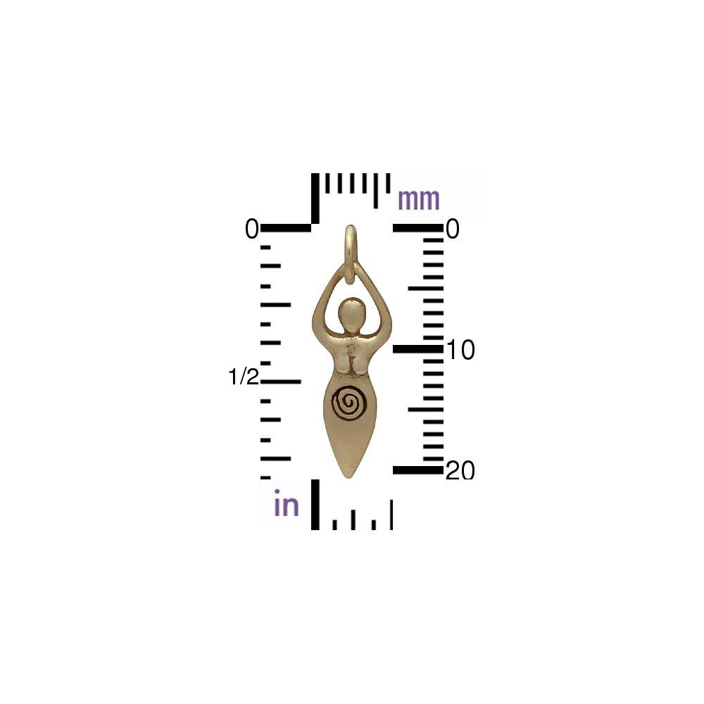 Fertility Goddess Jewelry Charm Moon Goddess Charm - Bronze
