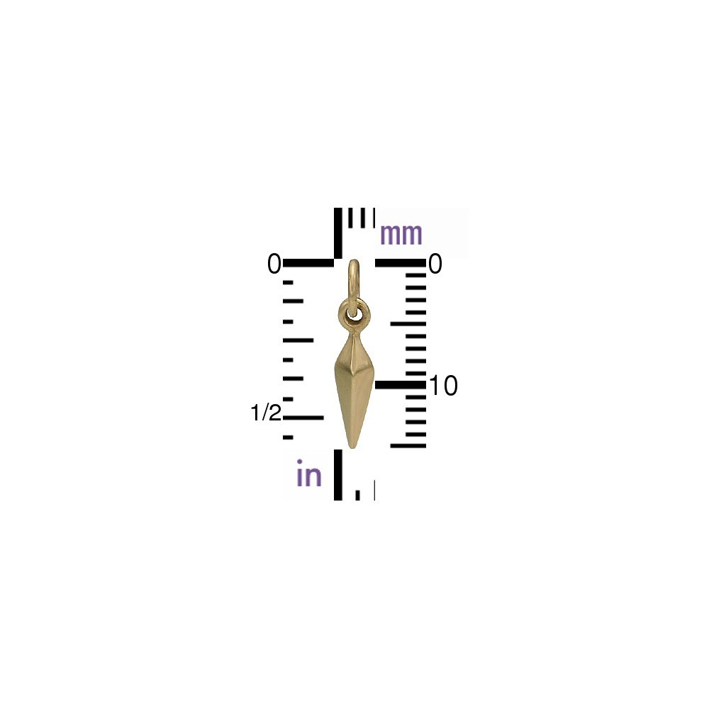 Small Spike Jewelry Charm - Bronze 15x3mm
