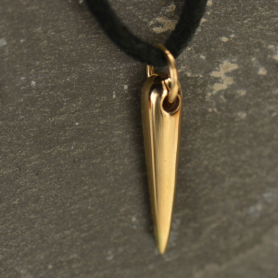 Cylindrical Spike Jewelry Charm - Bronze