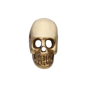 Mini Skull Bead - Bronze 6x4mm