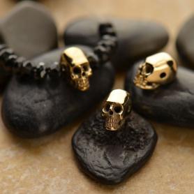 Mini Skull Bead - Bronze 6x4mm