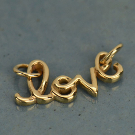 Cursive Love Pendant Link - Bronze