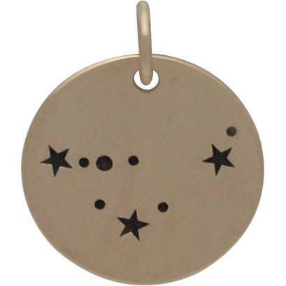 Capricorn Constellation Jewelry Charms - Bronze 18x15mm