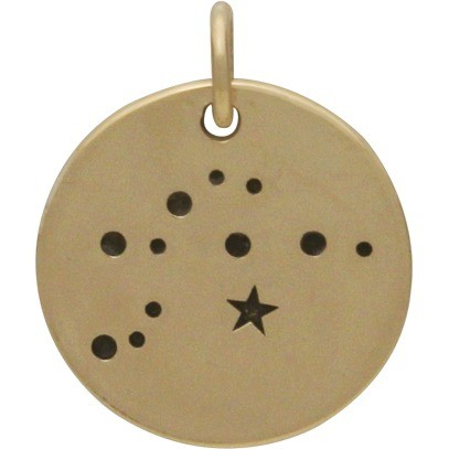 Aquarius Constellation Jewelry Charms - Bronze