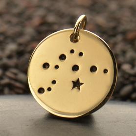 Aquarius Constellation Jewelry Charms - Bronze 18x15mm