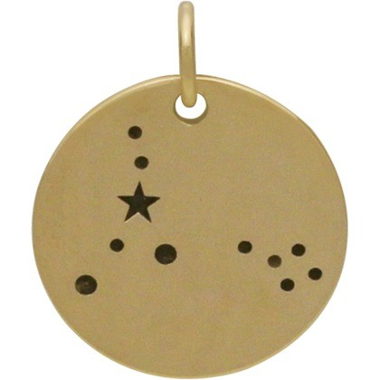 Pisces Constellation Jewelry Charms - Bronze 18x15mm