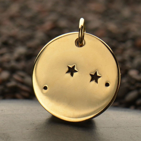 Aries Constellation Jewelry Charms - Bronze 18x15mm