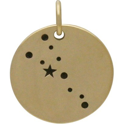 Taurus Constellation Jewelry Charms -  Bronze 18x15mm