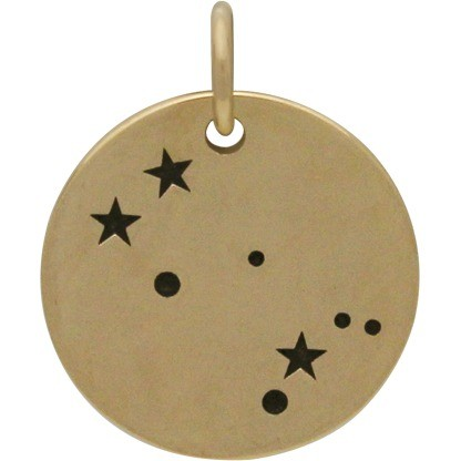 Gemini Constellation Jewelry Charms - Bronze 18x15mm