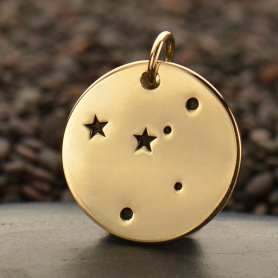 Cancer Constellation Jewelry Charms - Bronze 18x15mm