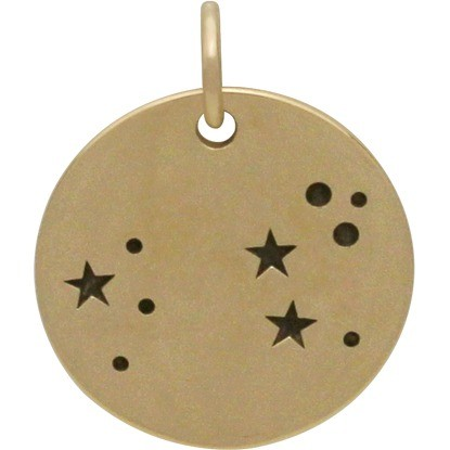 Leo Constellation Jewelry Charms - Bronze 18x15mm